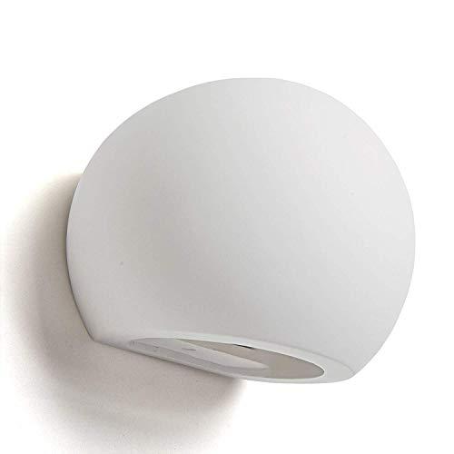 Iluminación de esquina Sconces - Decoración de pared de diseño moderno - Yeso, tipo bombilla de cerámica - Luz de patio