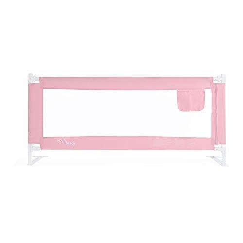 Barrières de lit LHA Barrière Anti-Chute de de Garde-Corps de bébé Levant la barrière de bébé 150/180 / 200cm * 80cm (Couleur : Pink, Taille : L-150cm)