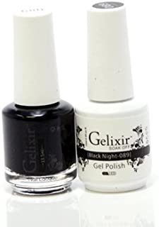 Gelixir matching color gel & nail lacquer Black Night - 089