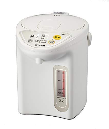 タイガー魔法瓶(TIGER) マイコン電気ポット 保温機能 節電タイマー 2.2L アーバンホワイト PDR-G220-WU