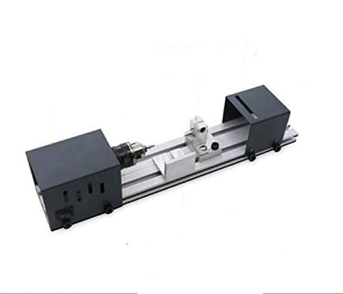 Mini máquina-herramienta, escritorio 220v motor mini carpintería torno, cubierta protectora de acrílico pasar la aspiradora, se puede lograr muchas funciones tales como el pulido, taladrado, grabado,