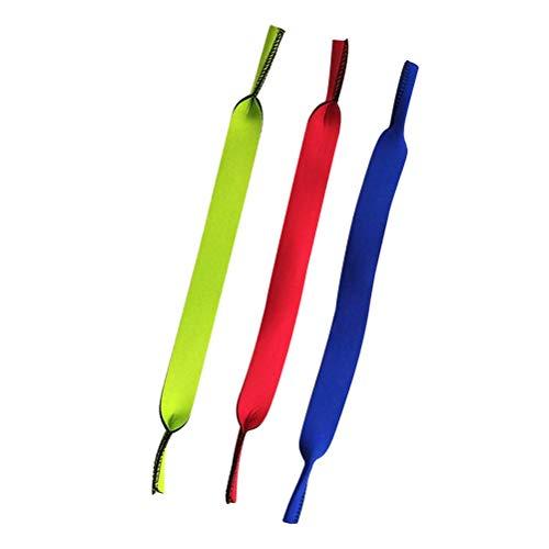 LIOOBO 3pcs Occhiali da Vista Supporto Cavo Cinghia Occhiali da Nuoto Sport Fermi Fermi di Sicurezza Supporto del Collo Cordino per Bambini Donne Uomini