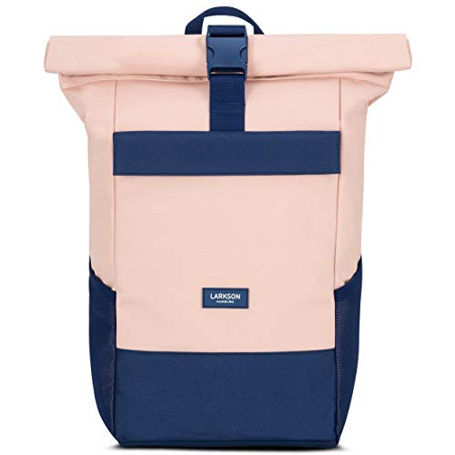 Roll Top Backpack Womens & Mens Blue Rose - Larkson No 4 Daypack Made from Recycled PET...