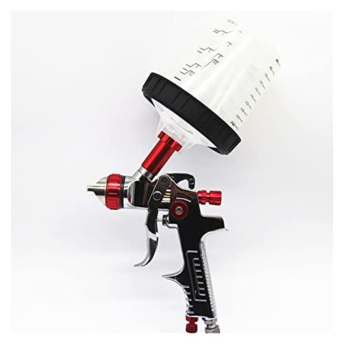 Pistola de Pintura en Spray con Adaptador y Tanque de PPS. HVLP Rociadores de Pintura Pistola de pulverización de Pintura AUTOMÁTICA 1.3/1.4/1.7mm Boquilla Pintura de automóviles Aeróleo