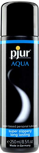 pjur AQUA - Premium-Gleitgel auf Wasserbasis - exzellente Gleiteigenschaften, spendet Feuchtigkeit, ohne zu kleben - auch für Sex Toys (250ml)