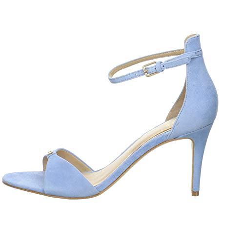 Guess Damen Sandalette Abiri Velour blau Gr. 38