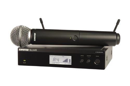 Shure BLX24R/SM58 sistema de montaje de soporte de rack inalámbrico con micrófono de mano SM58, M15