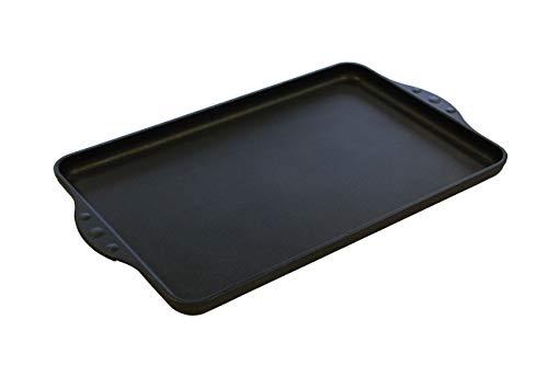 Eurolux Grillplatte Induktion 42 x 28 x 2,5cm komplett glatt Ceramikoberfläche - PFOA-Frei - Made IN Germany