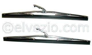 Spazzole Tergicristallo In Acciaio Inox Attacco Largo A Baionetta Fiat 500 epoca, Fiat 850 Spider, Fiat 1100 epoca