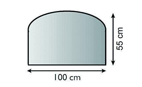 Lienbacher Glasbodenplatte Glasvorlegeplatte Saisonplatte 6mm 100cm x 55cm (Halbrund)