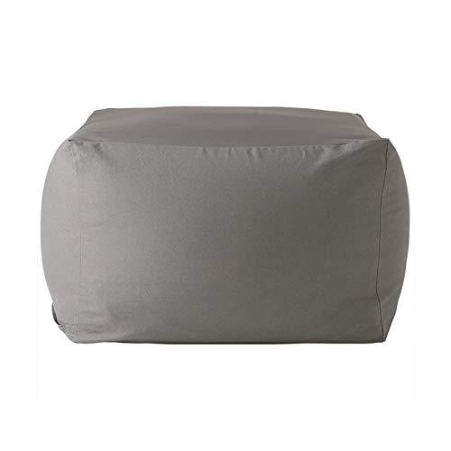 WSCQ Fodere da Divano in Lino Copri,Copridivano Pigro Bean Bag Pouf Sedia da Gaming Bean Bag Reclinabile Pouf Cover Senza Riempire,Light Gray,65 * 65 * 43cm