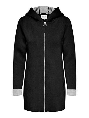 ONLY Damen Jacke Kurzmantel Lena Bonded Hood XL-Kapuze 15216457 Black S