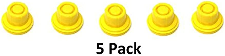 5 Pack Replacement Yellow SPOUT CAPS Top Hat Style fits # 900302 900092 Blitz Gas Can Spout Cap fits self Venting Gas can Aftermarket (SPOUTS NOT Included)
