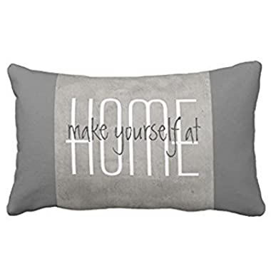 Lightenin Gray with Quote Home Decor Satin Decorative Rectangle Throw Pillow Case Cushion Cover, 12 x 20 Inches