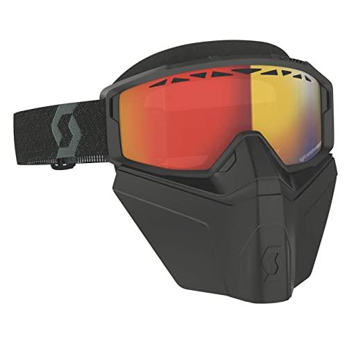Scott Primal Safari MX - Occhiali da mountain bike, con maschera Facemask, colore nero/rosso