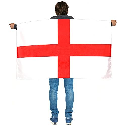 Cabo X 3 de Inglaterra con bandera usable  Disfraz ingls  Ftbol, rugby  eventos deportivos, fiestas callejeras del da de San Jorge, festivales y celebraciones