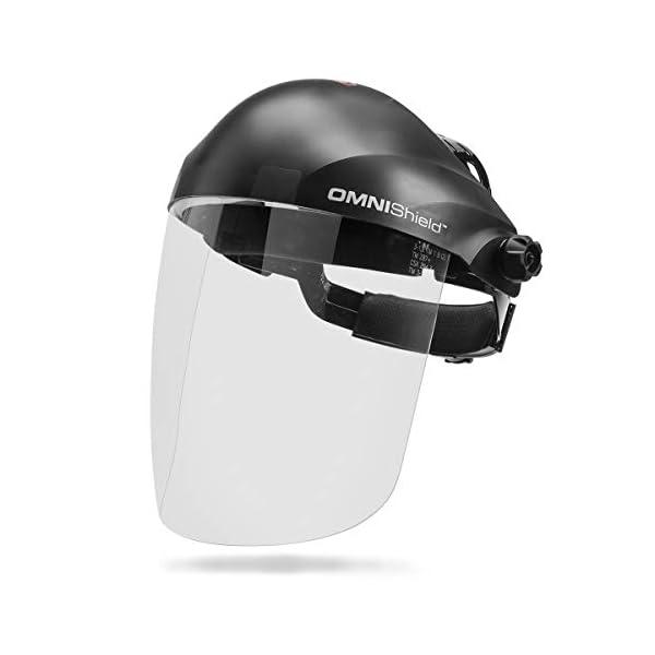 Lincoln Electric OMNIShield Professional Face Shield | High Density Clear Lens | Premium Headgear | K3750-1