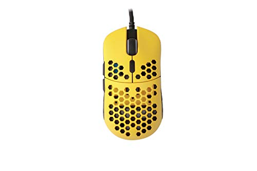 HK Gaming Mira S Ultra Lightweight Honeycomb Shell Wired RGB Gaming Mouse - Up to 12 000 cpi | 6 Buttons - 61g Only (Mira-S, Bumblebee)