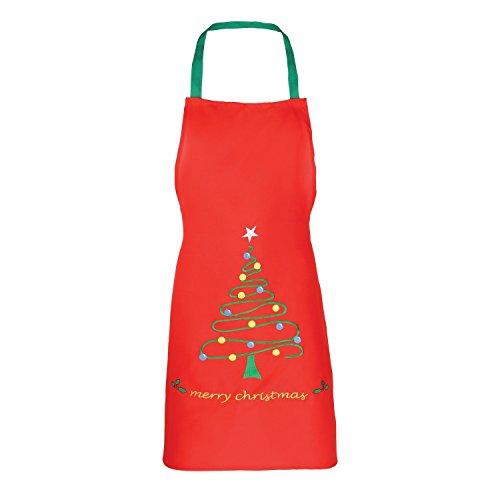 Christmas Shop - Tablier de Noël - Adulte unisexe (Taille unique) (Rouge/Sapin)