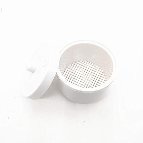 CXD Récipient stérilisateur, manucure pédicure Alcool Magasin Marque Verre Désinfectant boîtes Rondes Nail Art Les Outils Salon stérilisants boîte en Plastique,Blanc