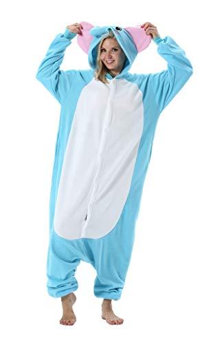 Adultos Animal Pijamas Cosplay Animales de Vestuario Ropa de Dormir Halloween y Carnaval Disfraces Elefante S