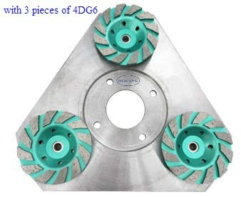 Great Price! Xucus 13.2'' Triangle Steel heavy duty rust free disc for Diamond floor grinder | 330mm...
