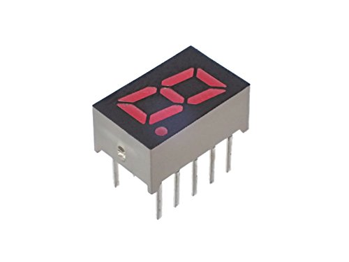 パナソニック(Panasonic) 小型 7セグ LED ナンバー 表示器 赤色 LNM213AM01A (10個セット)