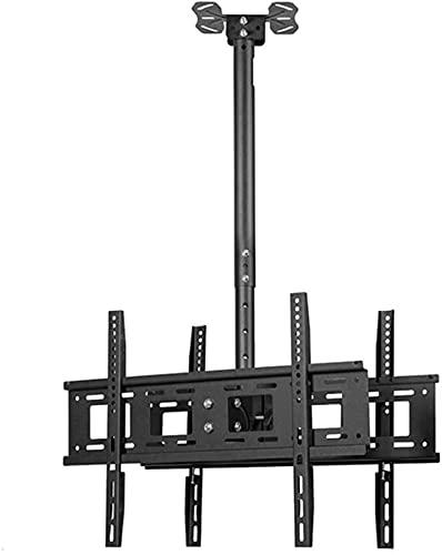 XQMY Soporte de TV, Soporte de TV Soporte de Techo Soporte de Monitor Universal Inclinable y Giratorio También para LED LCD Curvo 4K Tesion / 40-70 Pulgadas 400x400 Negro