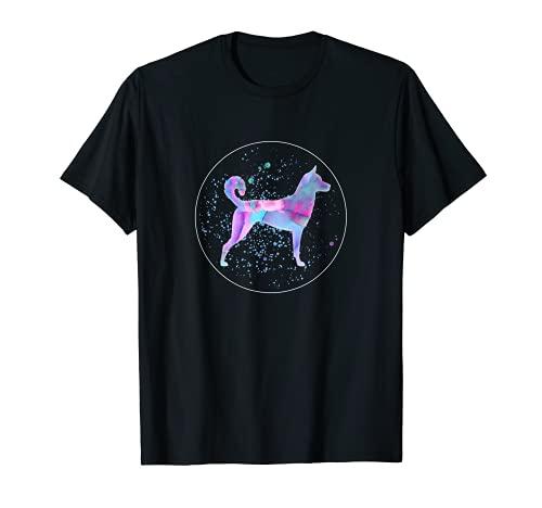 Korean Jindo Art Watercolor Dog Aquarelle T-Shirt