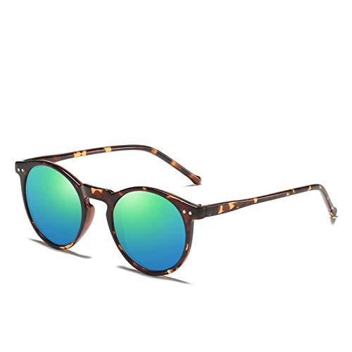 RongWang Gafas De Sol Polarizadas para Hombre Y Mujer, Diseñador De Marca, Gafas De Sol Redondas Retro, Gafas De Sol Vintage para Hombre Y Mujer, UV400 (Color : 3)