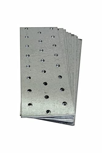 Lot de 10. Plaque de raccord, connecteur 160mm x 60mm en acier plat.