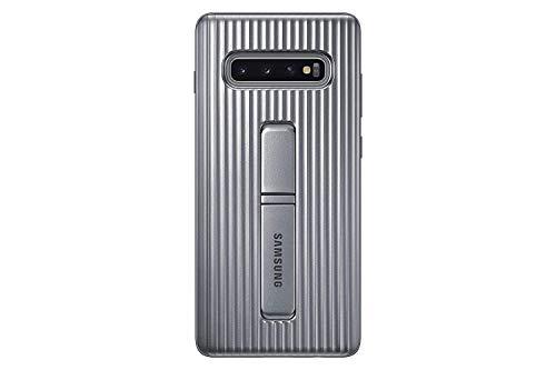 Samsung EF-RG975CSEGWW - Protect Cover, funda oficial para Samsung Galaxy 10+, color plata