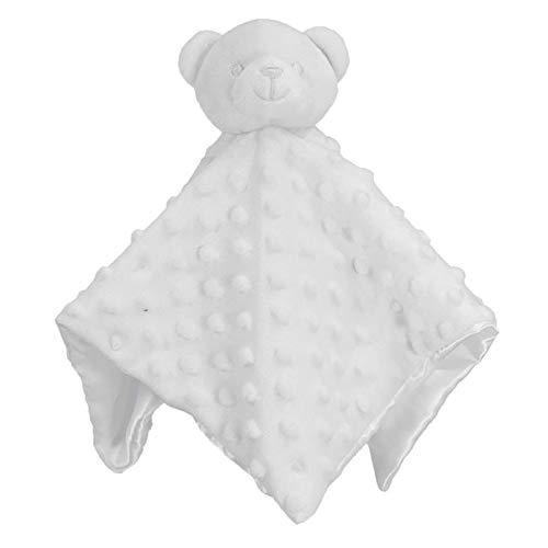 Edredón bordado personalizado para bebé con diseño de osito con nombre para recién nacido o niña blanco blanco