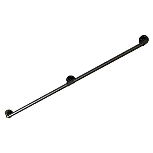 Industrial Metal Handrails for Outdoor Steps Wall Mounted Black Matte Wrought Iron   Railing Handrail for Indoor Stairs Lead Direct to Stairwell Door-House Or Cellar Entryway (Size : 200cm)