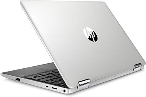 Product Image 1: HP – Pavilion x360 2-in-1 11.6″ Touch-Screen Laptop – Intel Pentium – 4GB Memory – 128GB Solid State Drive – Ash Silver Keyboard Frame, Natural Silver