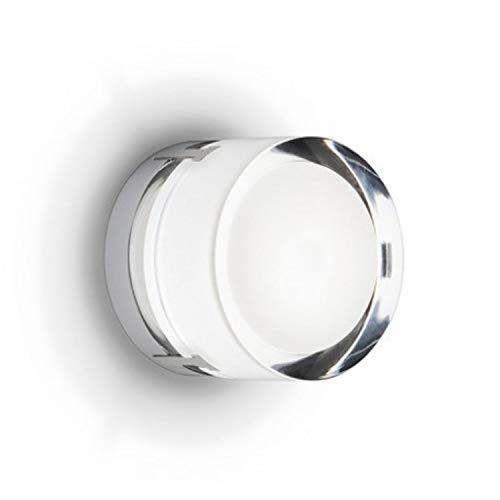 Aplique de pared de superficie, 1xG9 230V 33W Eco, con difusor de vidrio prensado, serie Scotch, color cromo, 10 x 12 x 12 centímetros (referencia: 096001)
