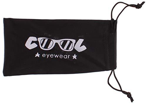 Cool Eyewear Funda para gafas de tela, 17 x 9 cm, color negro