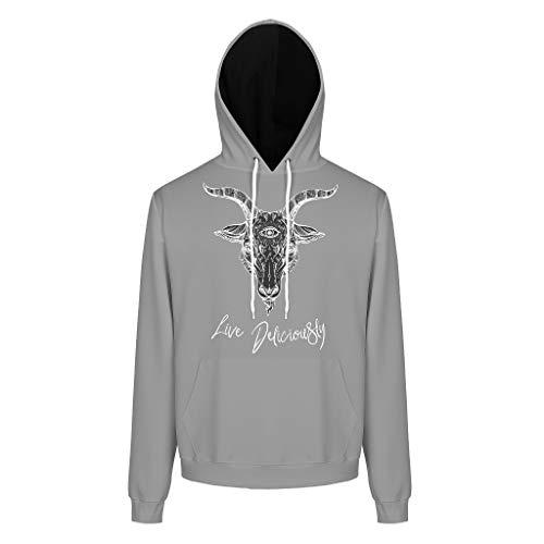 Charzee 1563845941CVNGM Printed heren jongens sweatshirts casual grappig top trui met zakken trekkoord