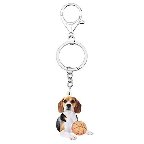 Llavero Lindo Perro Beagles llaveros Llavero Largo Mascota Animal Llavero para niños Adolescentes Regalo de cumpleaños encantos