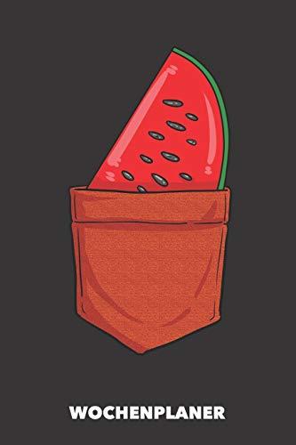 Wochenplaner: Taschen-Wassermelone DIN A5 florales Inlay - Wochenkalender 52 Wochen für Trendsetter (schwarz)