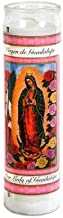 Set of 2 Our Lady of Guadalupe Prayer Candles 8 inches