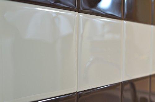 RENOSTICK Mattonelle adesive, Imitazione Perfetta, Posa Facile, Formato 15 x 15 cm, 10 Pezzi, Colore: Beige