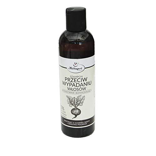 Anti-Haarausfall-Shampoo mit schwarzer Rübe und Schachtelhalm-Extrakt, Herbapol 250 ml, intensiv stärkend