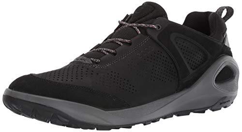 ECCO mens Biom 2go Sneaker Gore-tex Hiking Shoe, Black/Black Yak Nubuck, 9-9.5 US