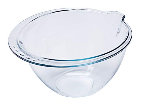 Pyrex Prep & Bake Expert Bowl - Glass Mixing Bowl - High Heat Resistance Borosilicate Glass - 29.4 x 28.1 x 15.2 cm, 4 litres