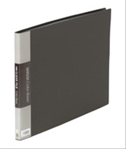 キングジム クリアーファイルカラーベース B4(E型)20枚 黒 140Cクロ
