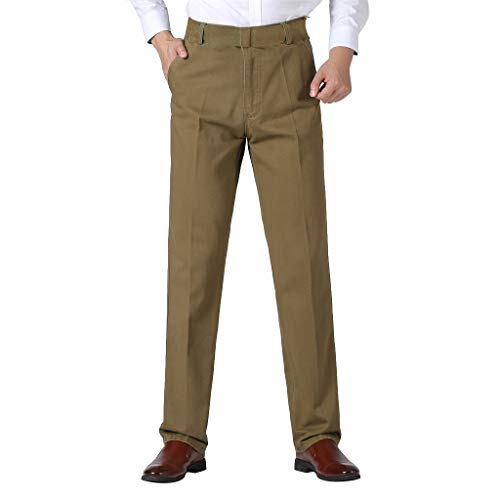 Herren Anzughose Businesshose mit Bügelfalte in untersetzten und normalen,Männer Einfarbig Business Hosen Trousers Comfortable Pant