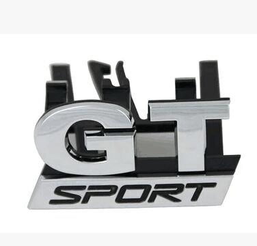 vecty Emblem Badge (TM) Hot cromo GT Sport Calandre rejilla para VW Golf Mk5GT 06–09de pegatinas de coche Cabello de voiture-