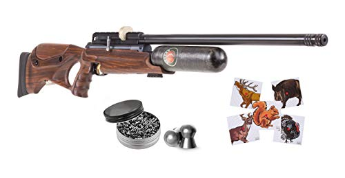 Hatsan NeutronStar New .177 Cal Air Rifle with Pack of 500ct Pellets and 100x Paper Targets Bundle