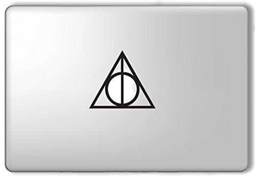 Deathly Hallows Symbol Harry Potter - Apple Macbook Laptop Vinyl Sticker Decal